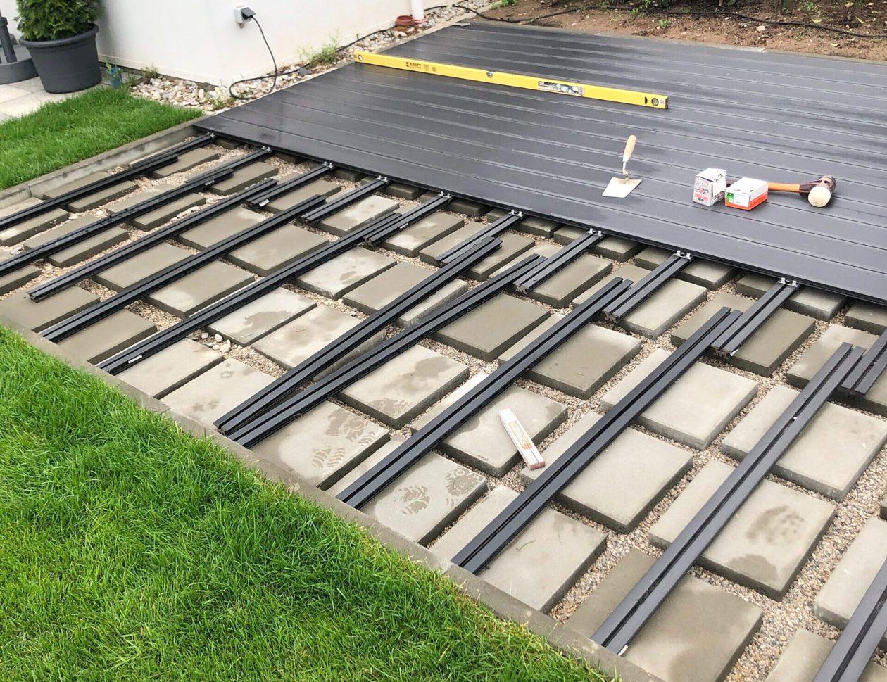 Greenkeepers Gartenbau - Terrassenunterbau für WPC-Dielen